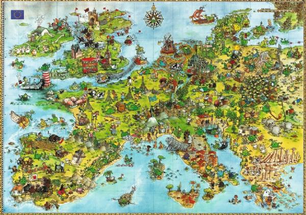 欧洲卡通地图